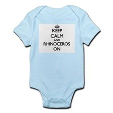 Keep calm and Rhinoceros On Body Suit