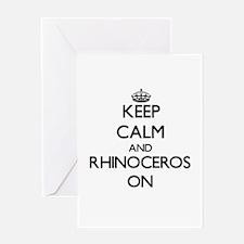 Keep calm and Rhinoceros On Greeting Cards
