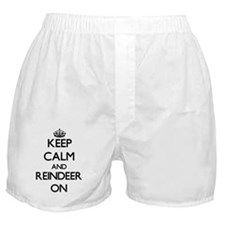 Keep calm and Reindeer On Boxer Shorts