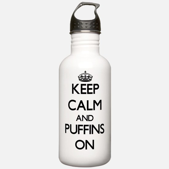 Keep calm and Puffins Water Bottle