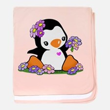 Cute Penguin baby blanket