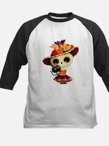 Cute Dia de Los Muertos Skeleton Girl Baseball Jer