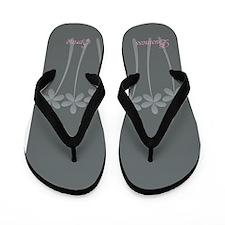 Custom Light Grey Business Spring Flip Flops