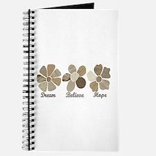 Dream Believe Hope Inspirational Fabric Co Journal