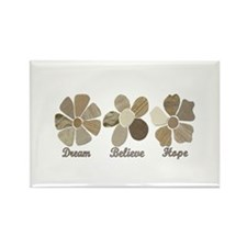 Dream Believe Hope Inspirational Fabric Co Magnets