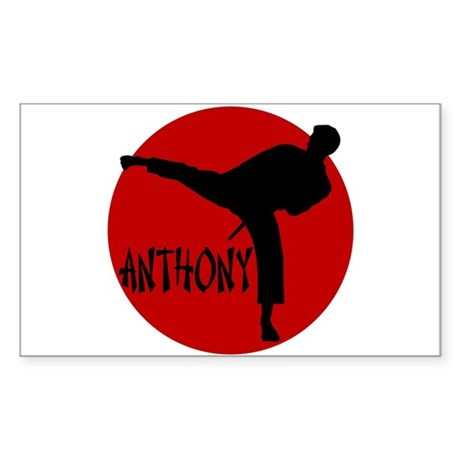 Anthony Martial Arts Rectangle Sticker
