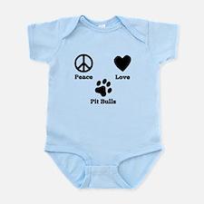 Peace Love Pit Bulls Body Suit