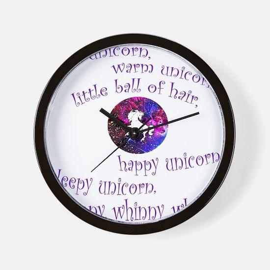 Soft Unicorn Wall Clock