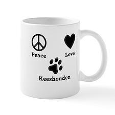 Peace Love Keeshonden Mugs
