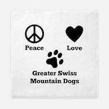 Peace Love Greater Swiss Mountain Dogs Queen Duvet