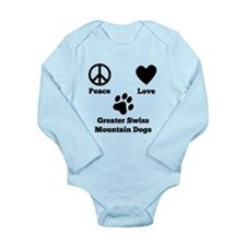 Peace Love Greater Swiss Mountain Dogs Body Suit