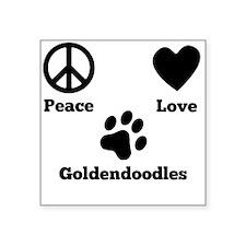 Peace Love Goldendoodles Sticker
