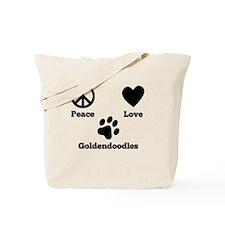 Peace Love Goldendoodles Tote Bag