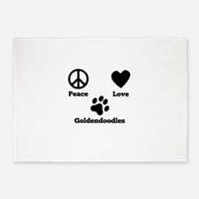 Peace Love Goldendoodles 5'x7'Area Rug