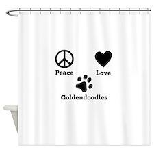 Peace Love Goldendoodles Shower Curtain