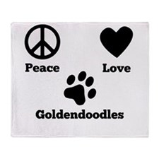 Peace Love Goldendoodles Throw Blanket