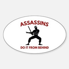 Assassins Do It From Behind Decal