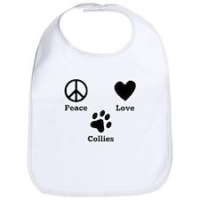 Peace Love Collies Bib