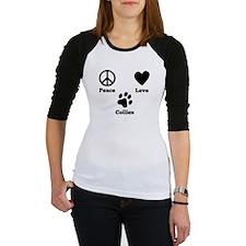 Peace Love Collies Baseball Jersey