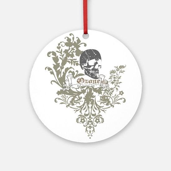 Ozone Skull 01 Ornament (Round)