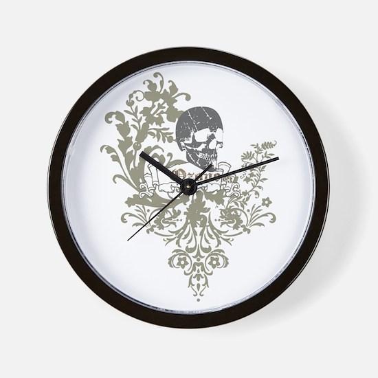 Ozone Skull 01 Wall Clock