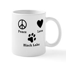 Peace Love Black Labs Mugs