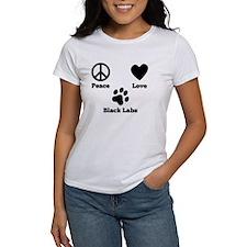 Peace Love Black Labs T-Shirt