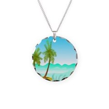 Palm Trees Spring Break Necklace