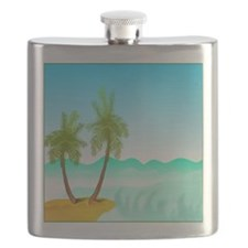 Palm Trees Spring Break Flask