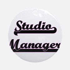 Studio Manager Classic Job Design Ornament (Round)