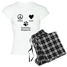 Peace Love Australian Shepherds Pajamas