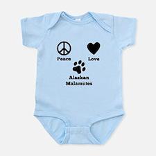 Peace Love Alaskan Malamutes Body Suit