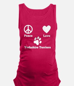 Peace Love Yorkshire Terriers Maternity Tank Top