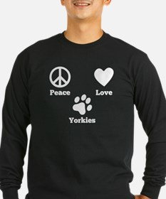 Peace Love Yorkies Long Sleeve T-Shirt