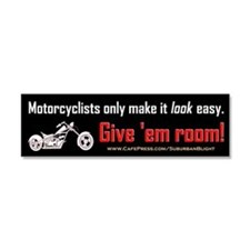 Motorcyclists Look Car Magnet 10 x 3