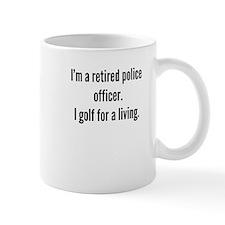 Retired Police Officer Golfer Mugs