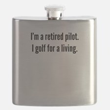 Retired Pilot Golfer Flask
