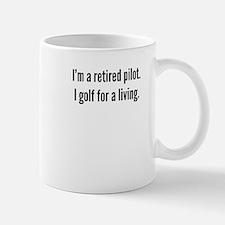 Retired Pilot Golfer Mugs