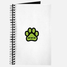 Adopt Don't Shop (lime green) Journal