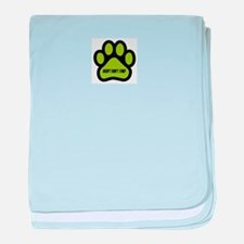 Adopt Don't Shop (lime green) baby blanket