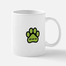 Adopt Don't Shop (lime green) Mugs