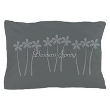 Custom Light Grey Business Spring Floral Pillow Ca