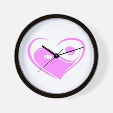 Ying Yang Love Wall Clock