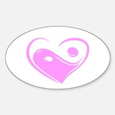 Ying Yang Love Oval Decal