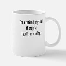 Retired Physical Therapist Golfer Mugs