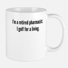 Retired Pharmacist Golfer Mugs