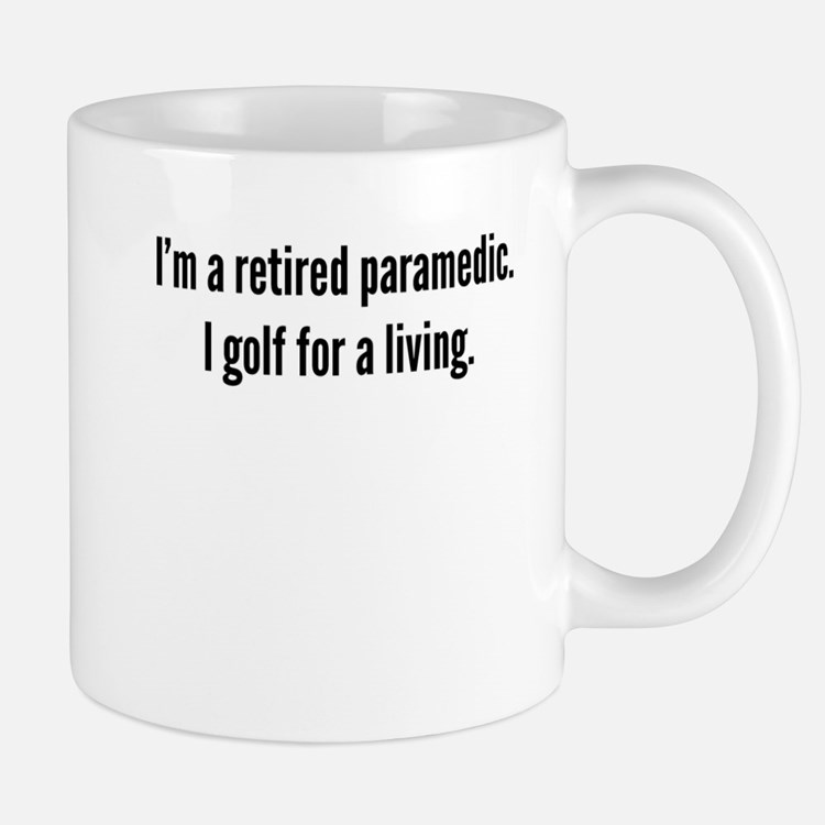 Retired Paramedic Golfer Mugs