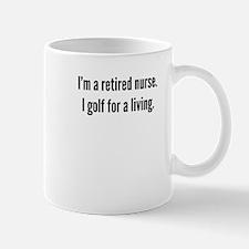 Retired Nurse Golfer Mugs