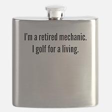 Retired Mechanic Golfer Flask