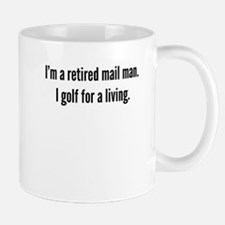 Retired Mail Man Golfer Mugs